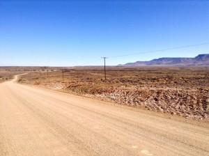 Gravel roads Namibia